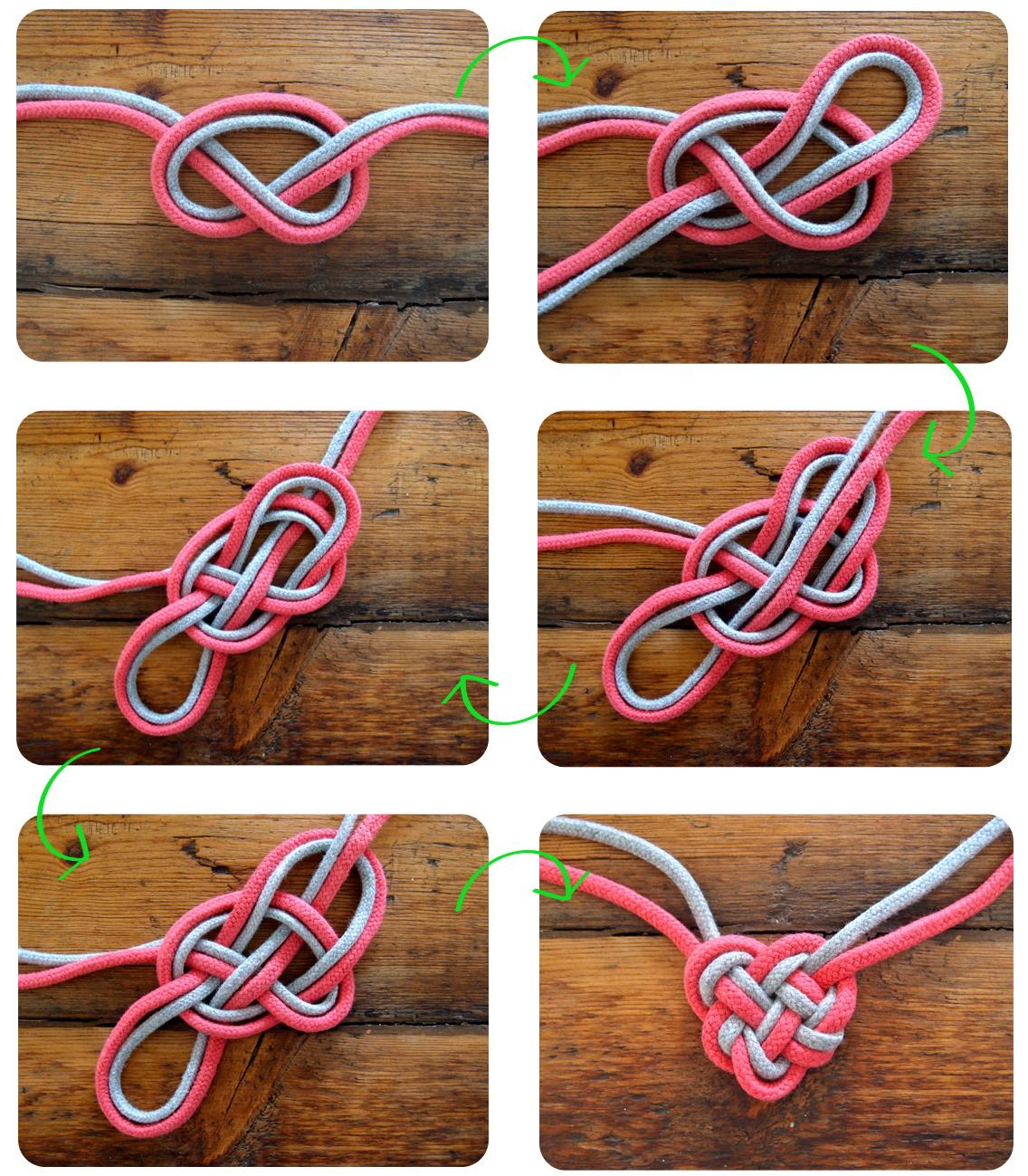 DIY Celtic heart knot necklace // Collier ficelle à noeud en