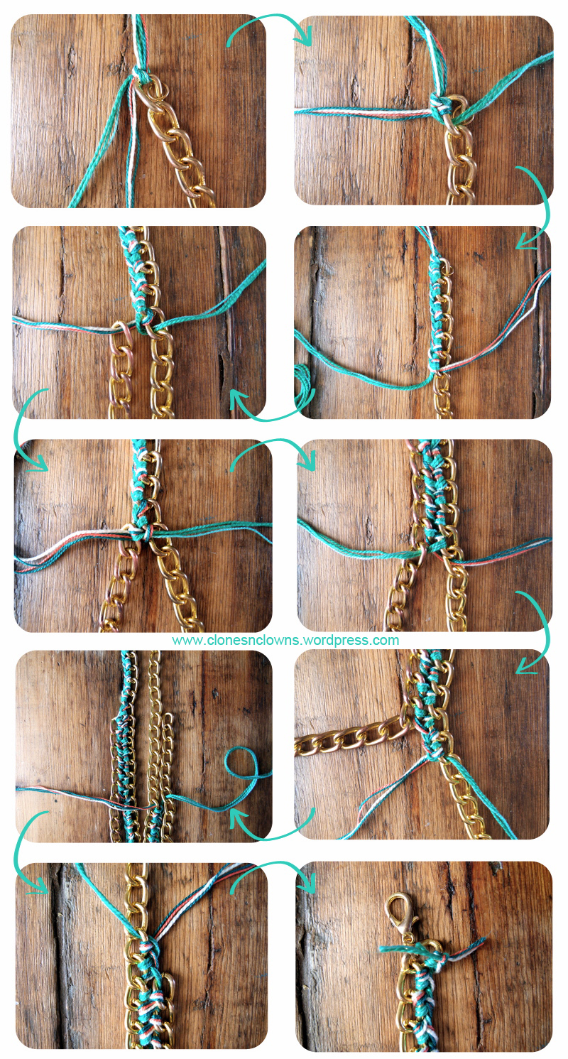 Diy braided chain necklace collier en chane tresse clones 1 solutioingenieria Image collections