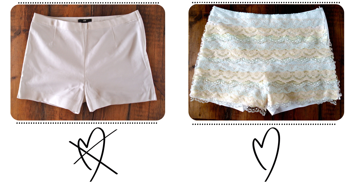 Diy video lace shorts short en dentelle clones n clowns diy video lace shorts short en dentelle here solutioingenieria Images