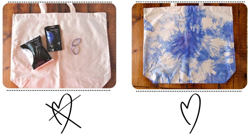 diy tie dye tote sac tie dye clones 39 n 39 clowns. Black Bedroom Furniture Sets. Home Design Ideas